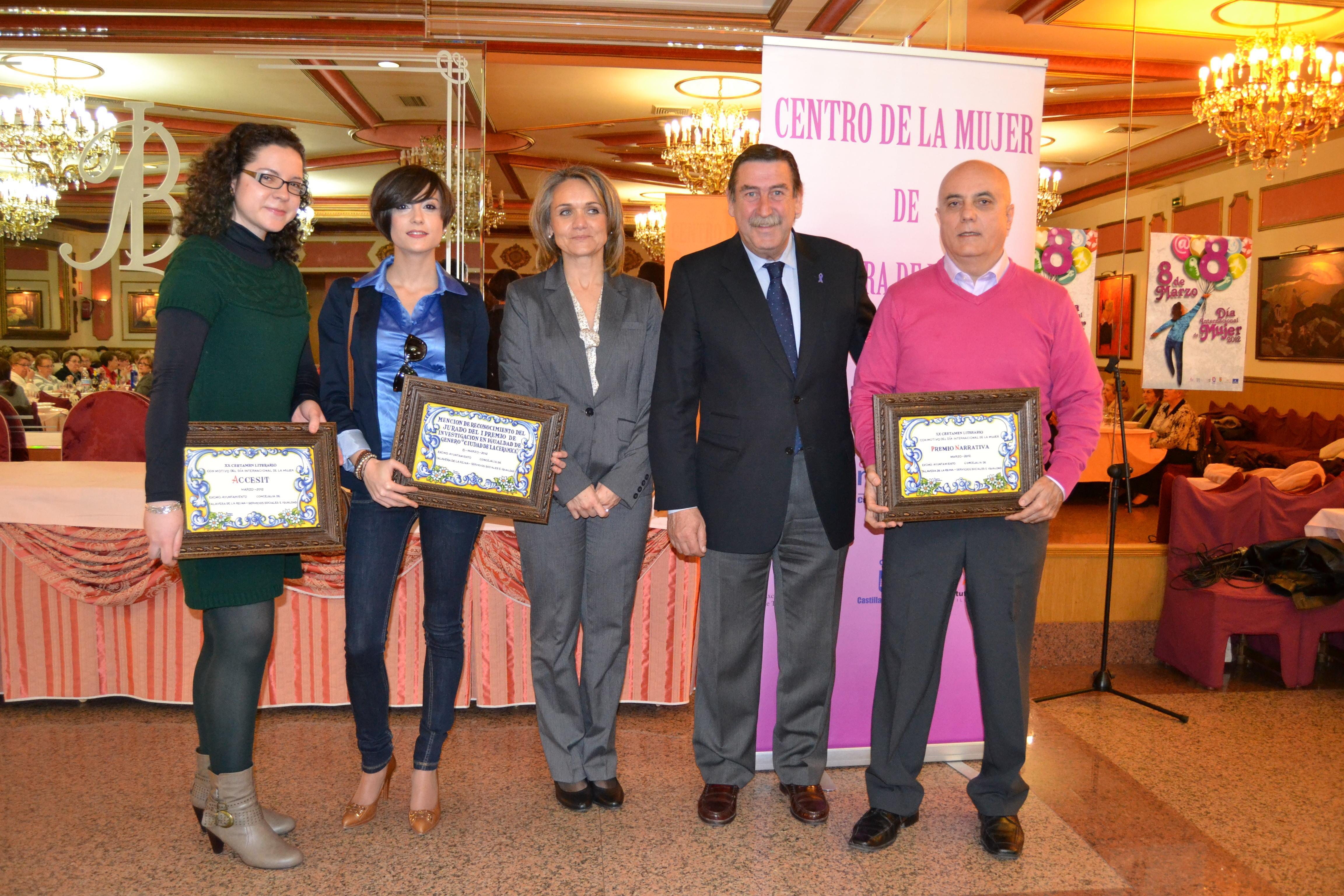 Entrega de los premios de narrativa y poesía del XX Certamen Literario 2012