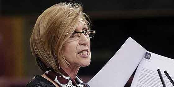 Rosa Díez se convierte en el paño de lágrimas de una sociedad estafada