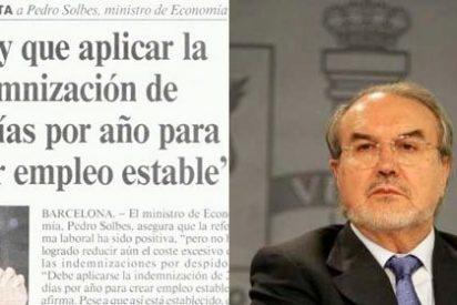 Los 20 días por año trabajado que repudia el PSOE son los mismos que defendía Solbes en 1995