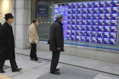 El Nikkei cae 142,19 puntos, un 1,46 por ciento, hasta los 9.546,26 puntos