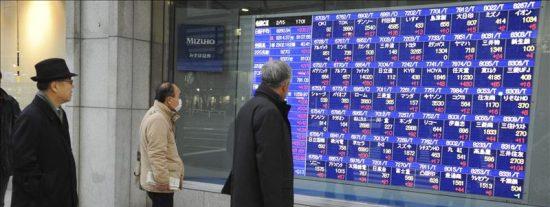 El Nikkei cae 132,81 puntos, el 1,37 por ciento, hasta 9.555,64 puntos