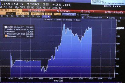 La prima de riesgo española sigue en máximos y abre en 407 puntos básicos