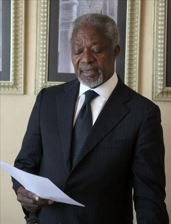 China da por hecho el alto el fuego en Siria y pide el apoyo de todos a Annan