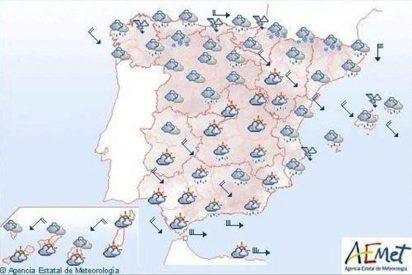 Mañana, lluvias en las Islas Baleares y nevadas en el norte peninsular
