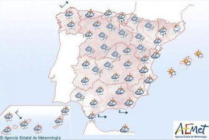 Cielo nuboso en la mayor parte de la Península y Canarias
