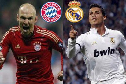 Los dos 'cracks': Discreto partido de Robben y muy flojo de Cristiano