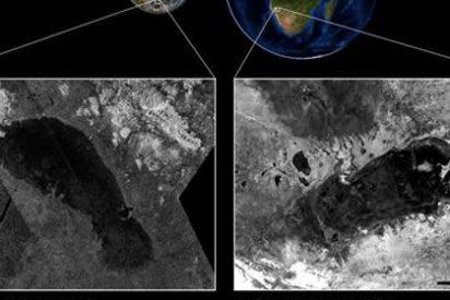Un lago de Namibia se reproduce en la luna Titán de Saturno