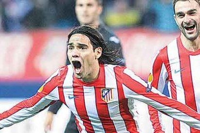 El Atlético de Madrid 'baila' al Valencia y Falcao marca un gol de cine