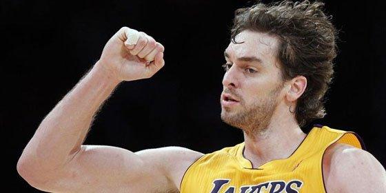 Gasol se luce en la victoria de los Lakers contra los Warriors