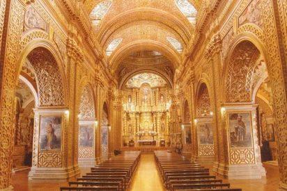 La iglesia de oro puro de Quito