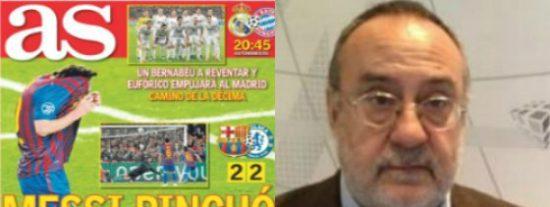 """Alfredo Relaño señala a Messi por errar el penalti: """"No es el especialista que merece un equipo así"""""""