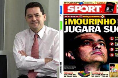 """El 'Mourinho jugará sucio! del 'Sport' indigna a Tomás Roncero: """"Les doy las gracias porque éstas son las portadas que te hacen ganar los partidos"""""""