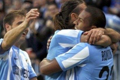 El Málaga alcanza el tercer puesto de la liga y hunde al Racing
