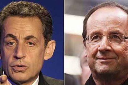 Hollande gana 'por los pelos' en primera vuelta y disputará la Presidencia a Sarkozy