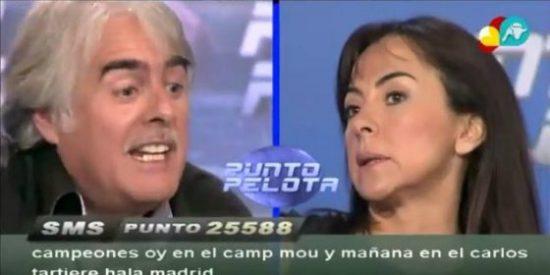 """Carme Barceló se harta de Siro López en 'Punto Pelota': """"Necesitabas este día para la sonrisita y las tonterías"""""""