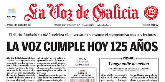 La Voz de Galicia se la juega por Novagalicia Banco y apuesta todo por Castellano