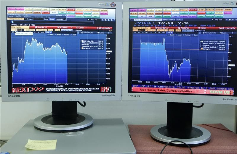 La bolsa española abre a la baja y el IBEX cae el 0,16 por ciento