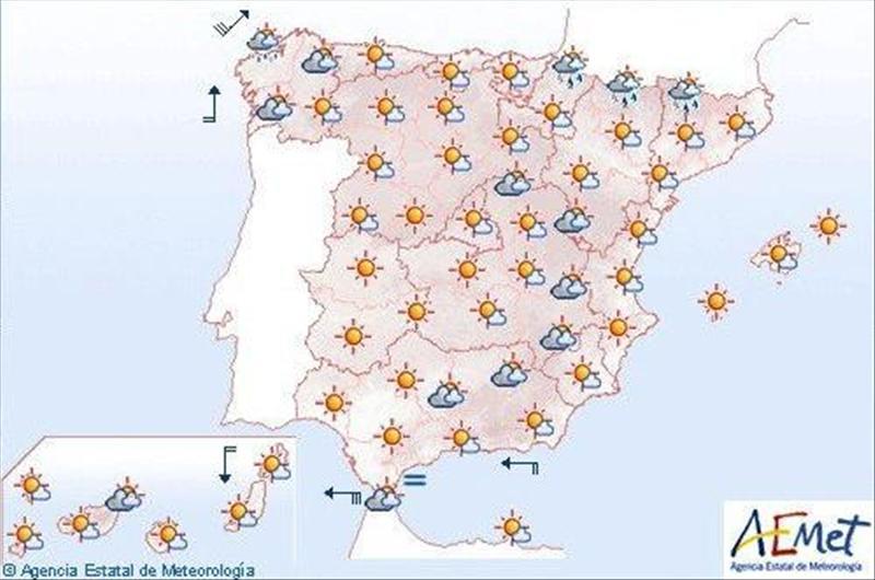 La Aemet prevé viento, lluvia y nubes en Galicia