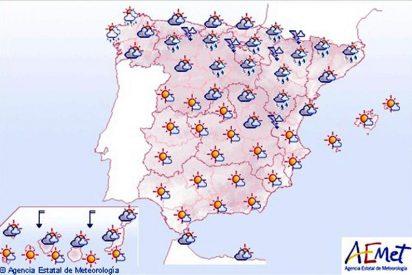 Lluvias débiles en el este de Andalucía y sur de Murcia