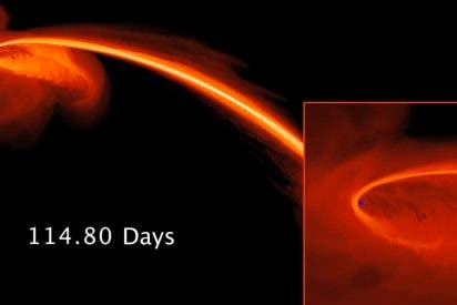 """La imagen """"más directa"""" de un agujero negro engullendo una estrella"""