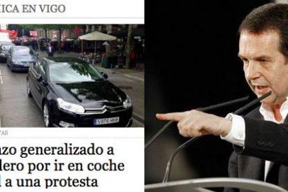 El alcalde de Vigo utilizó el coche oficial para ir a gritar contra los recortes el 1 de mayo