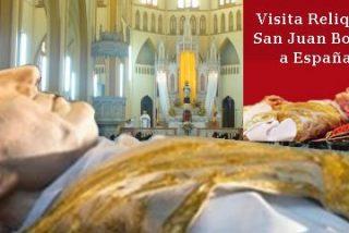 La urna-reliquia de San Juan Bosco, fundador de Salesianos, llega a Navarra