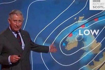 El Príncipe Carlos de Inglaterra es presentador del tiempo en la BBC