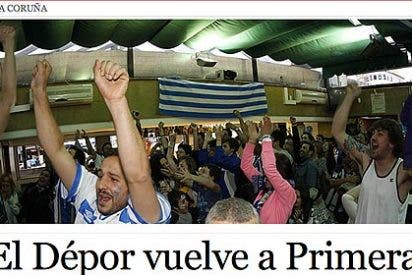 El Deportivo de La Coruña hace una 'machada' final y vuelve a Primera