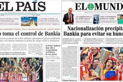 El País consuela a los accionistas de Bankia atizando a los obispos
