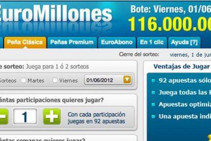 116 millones de euros, el bote más grande de Euromillones del 2012