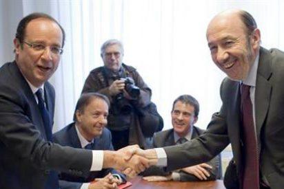 Hollande le da plantón a Rubalcaba en Bruselas