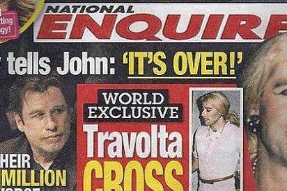 Aparecen imágenes de John Travolta vestido de mujer y en plan 'gay'