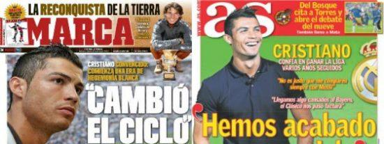 """Marca y AS ofrecen la misma entrevista 'exclusiva' con Cristiano Ronaldo: """"Cambió el ciclo"""""""