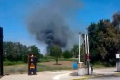 Un incendio en una industria de Cáceres se salda con un fallecido