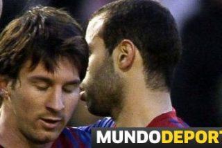 Mascherano 'achuchó' a Messi para que le dedicase su gol número 50 en Liga a Pep Guardiola