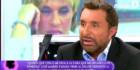 Espantosa aparición de José Manuel Parada en 'Sálvame Deluxe': intento de agresión de la Esteban, J.J. le abronca y Mila le insinúa algo muy grave