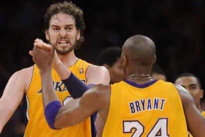 Ahora que los Lakers ya están eliminados, Kobe Bryant hace las paces con Pau Gasol