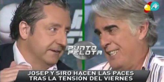"Josep Pedrerol se reconcilia con Siro López: ""Me daba igual 'Punto Pelota', me fastidiaba perder tu amistad"""