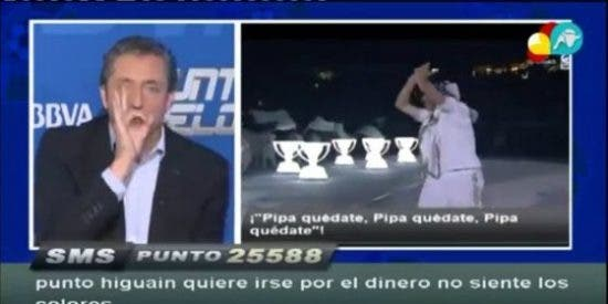 """Josep Pedrerol: """"El Madrid creó una fiesta para Higuaín y él les ha hecho una pedorreta. Se ha reído de todos"""""""