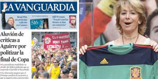 La prensa vasca y catalana carga contra Aguirre por la final de la Copa