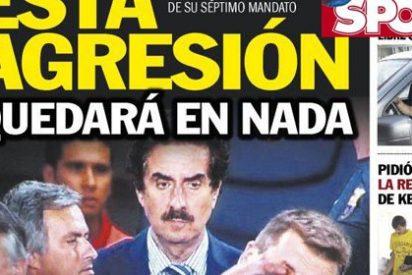 'Sport' estalla contra Villar por la amnistía a Mourinho pero sufre amnesia para recordar la 'espantada' del Barça en la Copa del año 2000