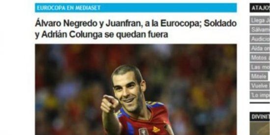 La web de Telecinco deja sin Eurocopa 2012 a... ¡Adrián Colunga!