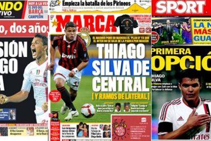 Thiago Silva, el 'fichaje' favorito de 'Mundo Deportivo', 'Marca' y 'Sport'