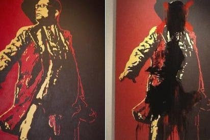 Los genitales del presidente sudafricano al aire en una pintura