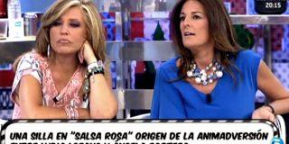"""La periodista Ángela Portero se estrena en 'Sálvame' con una megabronca con su 'archienemiga', Lydia Lozano: """"¡Eres mala persona!"""""""