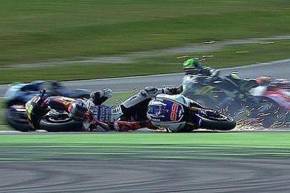 Bautista arrolla a Lorenzo en un accidente terrorífico