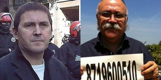 Carod-Rovira se fotografía con el número de preso de Otegi para la web del batasuno