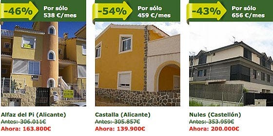 Ofrecen 100 viviendas en la costa con un descuento del 80%