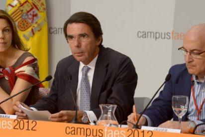 Aznar juega en casa y Cospedal apunta sin nombrar