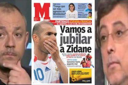"""Frederic Hermel vacila en 'Punto Pelota' antes del Francia-España: """"Os vamos a machacar"""""""